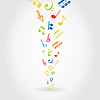 Vector clipart: Abstract music