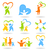 ID 3290223 | Icons - family | Stock Vector Graphics | CLIPARTO