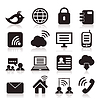Vector clipart: communication icons