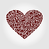 Vector clipart: Heart clothes