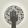 Vector clipart: Arts hand