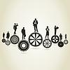 Vector clipart: Business gear wheel