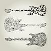 Vector clipart: Guitars