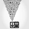 Vector clipart: Tape recorder
