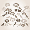 Vector clipart: Birds about industry