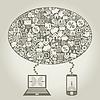 Vector clipart: Business Internet