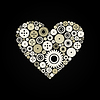 Vector clipart: Heart gear wheel