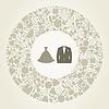 Vector clipart: Wedding suit