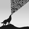 Vector clipart: wolf
