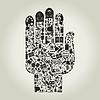 Vector clipart: Hand art