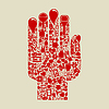 Vector clipart: Hand medicine