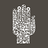 Vector clipart: Hand industry