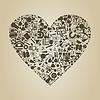 Vector clipart: Heart science