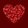 Vector clipart: Heart sale