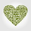 Vector clipart: Heart industry