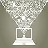 Vector clipart: Laptop