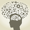 Vector clipart: Science head