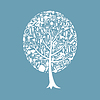 Vector clipart: Tree bath