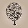 Vector clipart: Tree of science