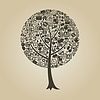 Vector clipart: Tree business