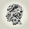 Векторный клипарт: Глава питание