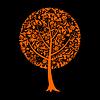 Векторный клипарт: Дерево Хэллоуина
