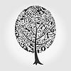 Векторный клипарт: Дерево стрелки