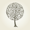 Vector clipart: Tree tool