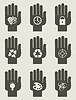 Set of hands | Stock Vector Graphics