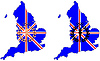 Vector clipart: Olympic symbols in front of UK map