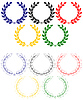laurel wreaths as Olympic rings