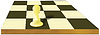 Vector clipart: Alone pawn