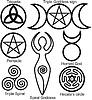 Vector clipart: Set of Wiccan symbols