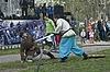 Финал средневекового боя мечом   Фото