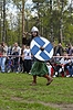 Photo 300 DPI: Russian medieval warrior with spear
