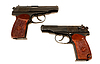 Two russian 9mm handguns | Stock Foto