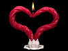 Two red burning candles | Stock Foto