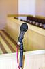 Photo 300 DPI: microphone at podium