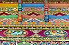 藏族建筑装饰纹饰 | 免版税照片