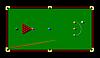 Vektor Cliparts: Snooker Tisch-und Cue-