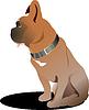 Vektor Cliparts: Sitzenden Hund Boxer. Puppy.