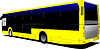 Vector clipart: Yellow Tourist bus. Coach. for designers