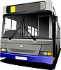 Vektor Cliparts: Grau Stadtbus. Coach.