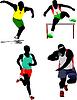 Vektor Cliparts: Leichtathletik Sport,