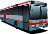 Vector clipart: City bus. Coach. for designers