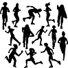 Vector clipart: Running people. Runners