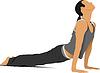 Vektor Cliparts: Frau Gymnastik. Kostenlose Gymnastik