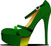 Vektor Cliparts: Modische Frauen-Schuhe.