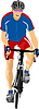 Vector clipart: Man with sport bicycle.