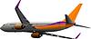 Vektor Cliparts: Passagierflugzeug in der Luft.